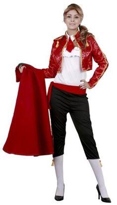 disfraz de torera bt2568. El disfraz está compuesto por pantalón, camisa, chaqueta, corbata y fajín de mujer..disfraz de uniforme o profesion de trabajo y deporte.disfraces de flamencas sevillanas y toreros adultos.