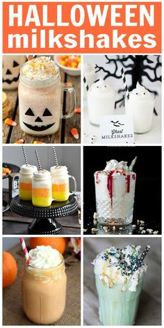 17 Halloween Milkshake Recipes. These delicious milkshakes are perfect for a Halloween treat!