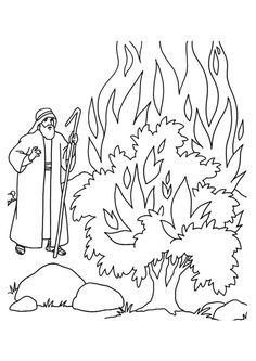 Moses is revered as the prophet in Christianity religion. The best way to hold their interest is by providing them these free printable moses coloring pages Bible Story Crafts, Bible School Crafts, Bible Crafts For Kids, Sunday School Crafts, Bible Stories, Bible Coloring Pages, Coloring Pages For Kids, Coloring Books, Adult Coloring