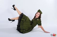 Army Military Dress Pinup Pin Up Gothic Lolita Steampunk Cosplay Green Dress Halloween Costume Womens Medium M by MGDclothing on Etsy https://www.etsy.com/listing/250909562/army-military-dress-pinup-pin-up-gothic