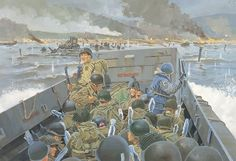 June 6, 1944 - D-Day landings, the greatest sea-borne military operation in history. British, Canadian and American forces stormed the beaches of Normandy, facing fierce resistance from the Germans as they pushed onwards to their objectives.