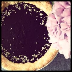 Chocolate Lavender pudding pie