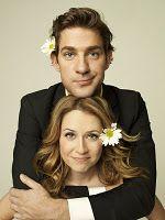 John Krasinski & Jenna Fischer by Peggy Sirota...  always love Jim & Pam!