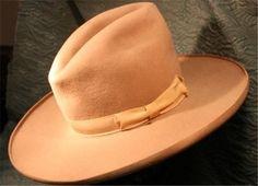 b456f33cb3ffff A Very Early Tom Mix Style Beaver Cowboy Hat Stetson? Circa 1920 Vintage  Western Wear