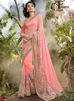 3e0eb7bee Chiffon Sarees - Pure Chiffon Sarees With Zari Border. Chiffon Sarees Online  Shopping In India Cash On Delivery.