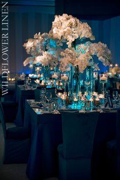 decoration bleu salle de mariage