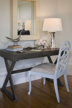 """writing"" desk- i think this is cute for empty wall space in a bedroom or hallway"