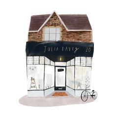 I lovely commission I illustrated for Julia Davey Ceramics's Bricks and mortar shop in Bath Building Illustration, House Illustration, Graphic Illustration, House Drawing, Illustrations And Posters, Art Inspo, Painting & Drawing, Art Drawings, Doodle
