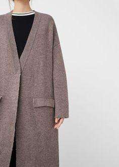 Flecked wool-blend cardigan