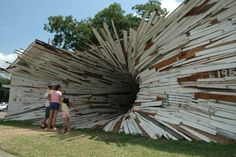"""Houston, Texas artists Dan Havel and Amazing. ""Dean Ruck (aka Havel Ruck Projects) have done a series of projects that feature artistically modified houses."""