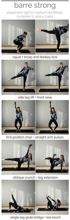 barre strong workout pin barre + strength training -- www.nourishmovelove.com