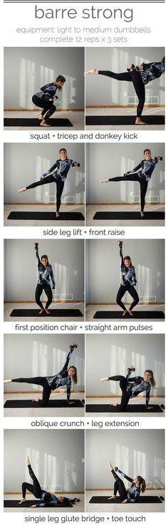 barre strong workout pin barre + strength training -- www.nourishmovelove.com