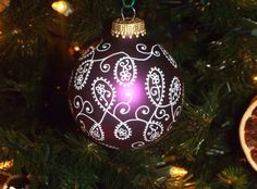 Sharpie marker ornament