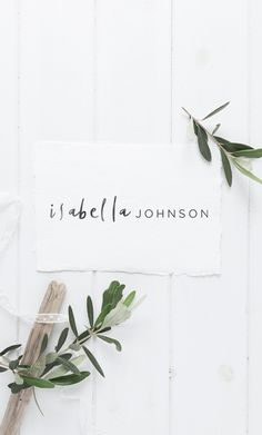 Delicate, whimsical handwriting is the unique element of this premade logo design - with your first name typeset in the expressive handwritten font, and surname in a contrasting modern minimal font. https://www.etsy.com/au/listing/465057413