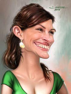 Julia Roberts by wael safwat
