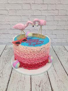 Flamingo Cake : Gâteaux d'Anniversaire (30) Flamingo Cake, Flamingo Birthday, Flamingo Party, 80th Birthday, Birthday Ideas, Birthday Parties, Birthday Cakes, Poppy Cake, Love Cake