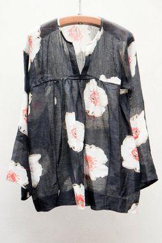 Black Rosalie Top - en lin et soie à motif floral - Etoile Isabel Marant
