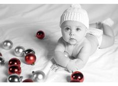 Great idea for photo of First Christmas, and also if you dont know about shutterfly, youve got to explore this amazing company for your photo sharing and making of beautiful books that you create for lifetime moments. First Christmas Photos, Xmas Photos, Babys 1st Christmas, Holiday Pictures, Cute Photos, Children Photography, Newborn Photography, Foto Baby, Christmas Photography