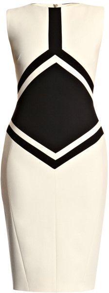 Antonio Berardi Black Diamond Wool Dress. wow! probably the ONLY white dress I would wear!