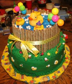 Rubber Duck Cake By calex on CakeCentral.com