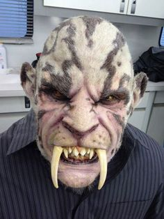"""Saber Tooth"" makeup by Oscar-winning Makeup FX artist Barney Burman's B2FX for Grimm."