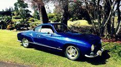 1957 Low Light Karmann Ghia VW porn aircooled  Wolfsburg vintage Volkswagen cookiecutters pussycat 1776 swan neck mirrors euro bumpers baby blue falken