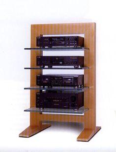 15 Designer Racks - More Then Audio. Hifi Stand, Audio Stand, Speaker Stands, Hifi Rack, Audio Rack, Diy Speakers, Home Theater Speakers, Stereo Speakers, Audio Design