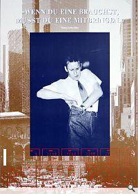Martin Kippenberger, Wenn du eine brauchst, musst du eine mitbringen Galerie Baerbel Graesslin. Kippenberger zum 32. Geburtstag, 1985