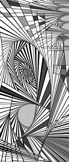 vin - Dynamic black and white optical obsession, organic abstract by Douglas Christian Larsen, homage and tribute to Brandon Sanderson, author of the Mistborn series, The Final Empire, Well of Ascension, and The Hero of Ages - http://fineartamerica.com/featured/vin-douglas-christian-larsen.html