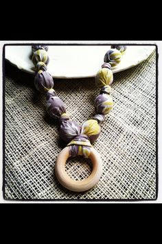 Nursing Necklace, Teething necklace, Babywearing Necklace , chew beads-Style Juno