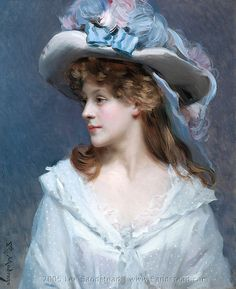 Woman_in_White de Raimundo de Madrazo y Garreta    19th century spanish painting
