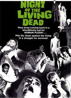 La noche de los muertos vivientes (Night of the Living Dead, 1968). Dir. George Romero. Cine de culto: Una mutación por radiación genera monstruos horripilantes, pero también echa luz sobre el comportamiento de los humanos vivos.