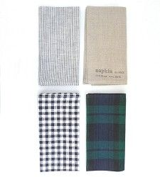 love fog linens....and I'd just mix and match these for a fun table that stays pretty neutral