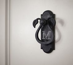 Scroll Door Knocker #potterybarn