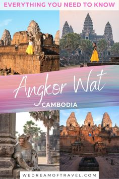 This essential guide to Angkor Wat, Cambodia, tells you EVERYTHING you need to know to plan the perfect trip to this UNESCO heritage site. With over 1000 temples in the Angkor Wat archaeological complex, it can be hard trying to figure out your perfect trip. Full of Angkor Wat photography to help inspire your trip as well as useful information about how to get to Angkor Wat, how to buy tickets, where to stay and which temples to visit. #angkorwat #siemreap #cambodia #travelguide Tokyo Japan Travel, Japan Travel Tips, China Travel, Bali Travel, Travel Ideas, Travel Inspiration, Angkor Wat Cambodia, Cambodia Travel, Worldwide Travel