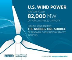 Wind Power is now America's largest source of renewable energy.