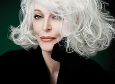 Carmen Dell'Orefice, the oldest working model. Still working at 80+ years! Stunning!
