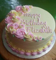 goodnight i love u Cake Decorating Frosting, Creative Cake Decorating, Cake Decorating Videos, Birthday Cake Decorating, Cake Decorating Techniques, Creative Cakes, Flower Cake Design, Rodjendanske Torte, Bithday Cake