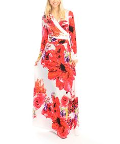 Look at this Red & White Floral Maxi Dress - Women on #zulily today!