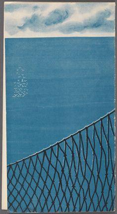 Restaurant Naust - 1958  - Net & Sea Illustration