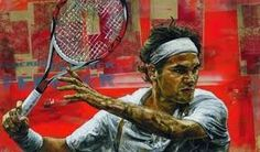 Roger Federer by Stephen Holland Tennis