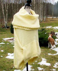 Knit sweater Oversized Chunky knit cocoon by PonchoShawlScarves