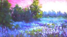 Dessin et peinture - vidéo 2048 : Préparer le support pour peindre un paysage au pastel en utilisant de l'alcool.