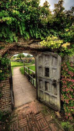 Out the garden gate