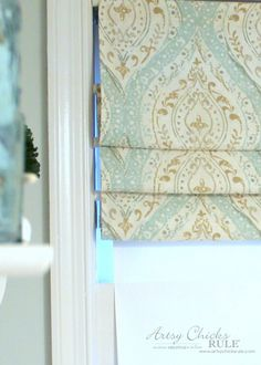 How To Make No Sew Curtains with Grommets - Artsy Chicks Rule®