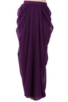 Harper Maxi Skirt - Dark Purple from #thepoplook (based in Malaysia, ships Worldwide) #modestfashiononline