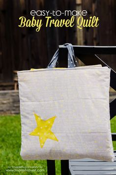 Easy to make baby travel quilt