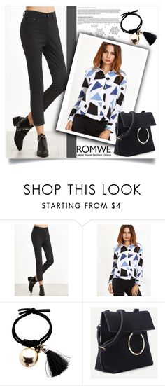 """""""ROMWE 1"""" by melisa-hasic ❤ liked on Polyvore"""