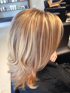 Painted highlights and baby lights together. Blonde highlights.