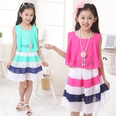 Dress Chiffon Dress Skirt children's summer 2015 in summer dress online shopping sites http://www.allymey.com